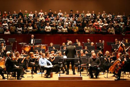 HSO rehearse with Henley and Benson choral societies, March 2010